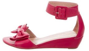 RED Valentino Bow Ankle Strap Wedges