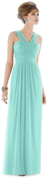 Alfred Sung D678 Bridesmaid Dress in COASTAL