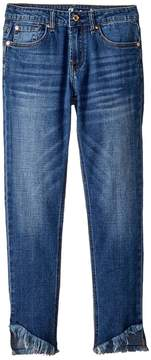 7 For All Mankind Kids The Ankle Skinny Jeans in Barrier Reef Girl's Jeans