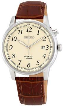 Seiko Kinetic Cream Dial Men's Watch