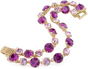 A-Z Collection Pink and Amethyst Gold Plated Bracelet