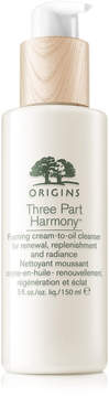 Origins Three Part Harmony Foaming Cream-to-Oil Cleanser for Renewal, Replenishment and Radiance
