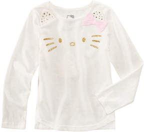 Hello Kitty Glitter Face T-Shirt, Little Girls (4-6X)