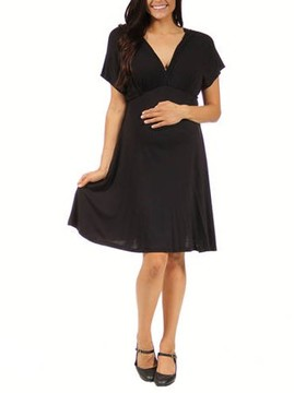 24/7 Comfort Apparel Maternity Plus Women's Empire Dress
