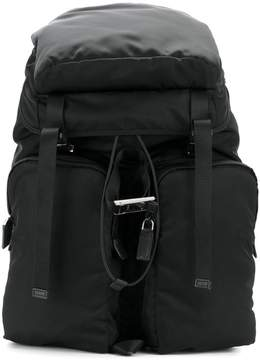 Prada double straps multi-pockets backpack