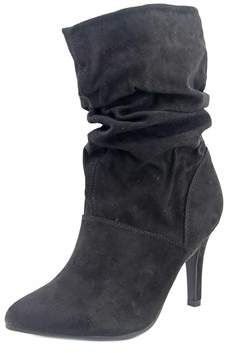 Style&Co. Style & Co Adelay Women Pointed Toe Synthetic Black Mid Calf Boot.