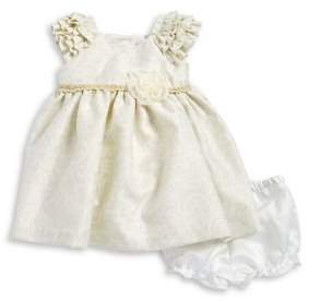 Laura Ashley Baby Girl's Two-Piece Floral Dress and Bloomers