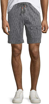 Michael Bastian Men's Feather-Print Stretch Pull-On Shorts