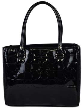Kate Spade Black Patent Leather Monogram Tote Bag - BLACK - STYLE
