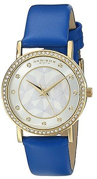 Akribos XXIV Geo-Pattern Mother of Pearl Dial Ladies Watch