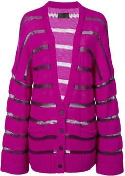 RtA Striped Knit Cardigan