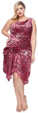 Unique Vintage Plus Size Velma Burnout Flapper Women's Dress