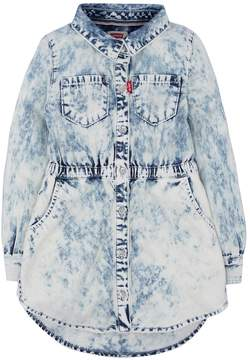 Levi's Girls 4-6x Fit & Flare Acid Wash Denim Shirt Dress