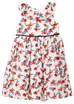 Laura Ashley Floral Sleeveless Dress (Toddler & Little Girls)