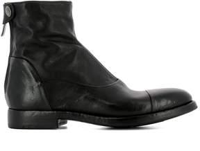 Alberto Fasciani Black Leather Ankle Boots