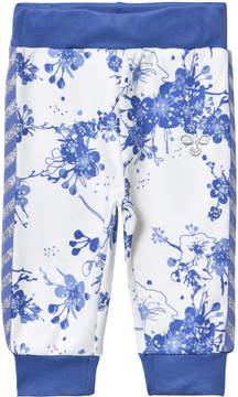 Hummel Blue Floral Print Alva Sweatpants