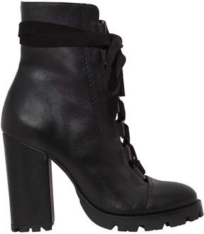 Schutz 100mm Lace-Up Leather Boots