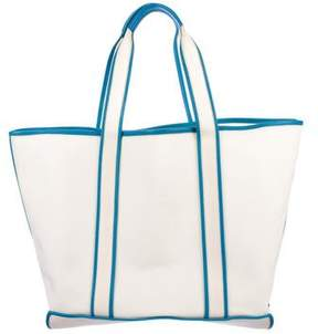 Valextra Leather-Trimmed Tote