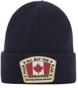 DSQUARED2 Men's Blue Wool Hat.