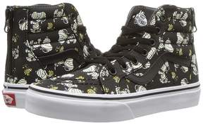 Vans Kids Sk8-Hi Zip x Peanuts Glow Mummies/Black) Kids Shoes