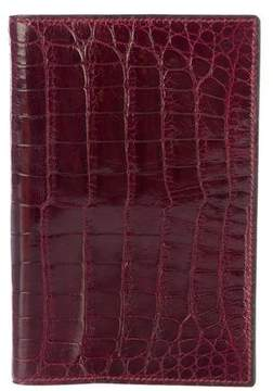 Hermes Crocodile Passport Cover - BURGUNDY - STYLE