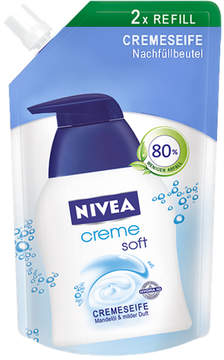 Nivea Refill Creme Soft Liquid Soap by 500ml Liquid Soap)