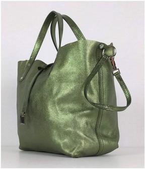 Tiffany & Co. Green Small Reversible Metallic Tote