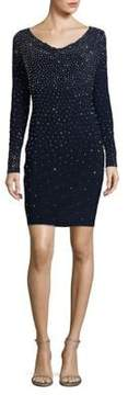 Xscape Evenings Embellished V-Neck Bodycon Dress