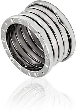 Bvlgari B.Zero1 18K White Gold 5-Band Ring- Size 54 (US 7)