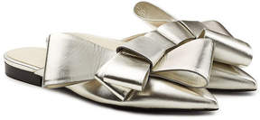 DELPOZO Metallic Leather Slip-On Mules