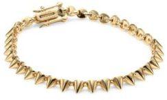 Eddie Borgo Pave Crystal Mini Cone Bracelet/Goldtone