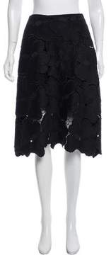 Cynthia Rowley Broderie Anglaise Knee-Length Skirt