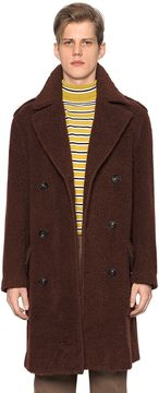 Teddy Double Breasted Mixed Wool Coat