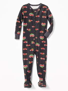 Old Navy Christmas Car-Print Footed One-Piece Sleeper for Toddler & Baby