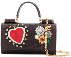 Dolce & Gabbana mini Von wallet crossbody bag - BROWN - STYLE