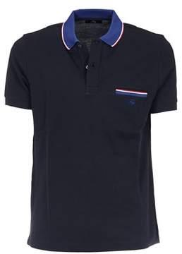 Fay Men's Blue Cotton Polo Shirt.