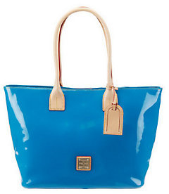Dooney & Bourke Patent Leather Double Handle Small Shopper w/ Plated Logo - ONE COLOR - STYLE