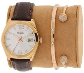 Fossil Boyfriend Rose Gold-Tone Women's Watch, ES3770