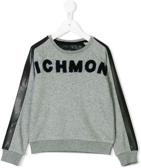 John Richmond Kids towel logo sweatshirt