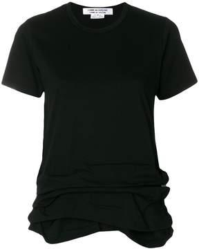 Comme des Garcons gathered hem T-shirt