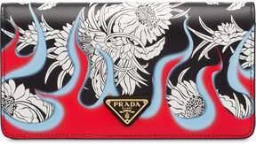 Prada Dahlia flame print saffiano mini bag