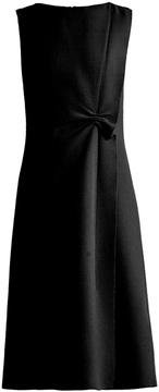 Bottega Veneta Sleeveless asymmetric wool-crepe dress