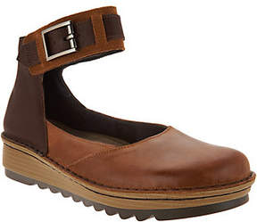 Naot Footwear Leather Colorblocked Slip-on Shoes w/AnkleStrap - Sycamor