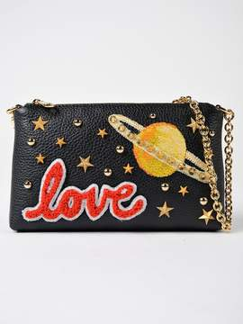 Dolce & Gabbana Love Chain Clutch - BLACK - STYLE