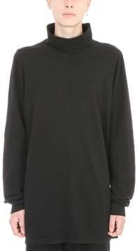 Drkshdw Black Cotton Roll Neck Loose Sweater