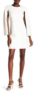 Donna Morgan Long Sleeve Crepe Shift Dress