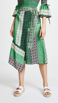 Derek Lam 10 Crosby Asymmetrical Wrap Skirt