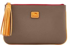 Dooney & Bourke Patterson Leather Carrington Pouch - TAUPE - STYLE