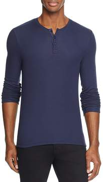 ATM Anthony Thomas Melillo Ribbed Long Sleeve Henley Tee