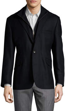 Kroon Men's Ritchie Wool Zip Front Sportcoat
